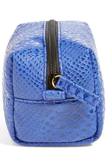 Alternate Image 2  - steph&co. 'Blue Python' Rectangular Cosmetics Case (Nordstrom Exclusive)