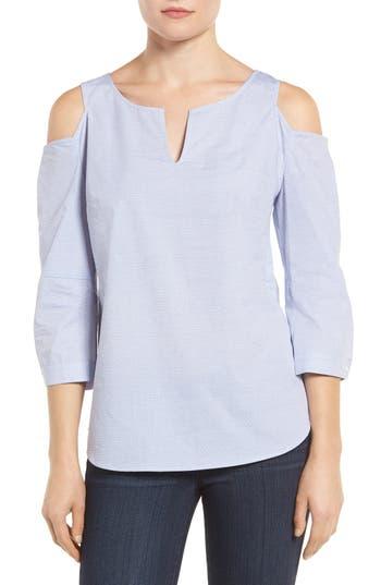 NYDJ Agnes Print Cold Shoulder Cotton Top (Regular & Petite)