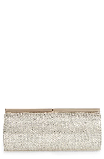 Jimmy Choo Trinket Glitter Mesh Clutch