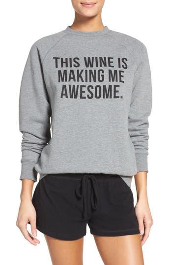 BRUNETTE the Label 'This Wine' Crewneck Sweatshirt