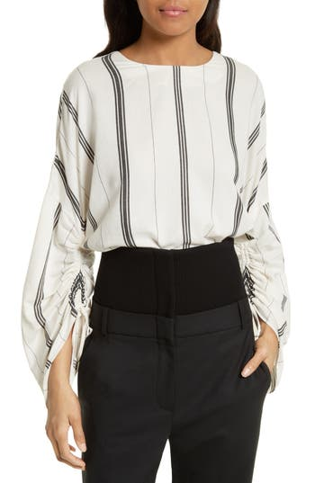 Tibi Warren Stripe Top
