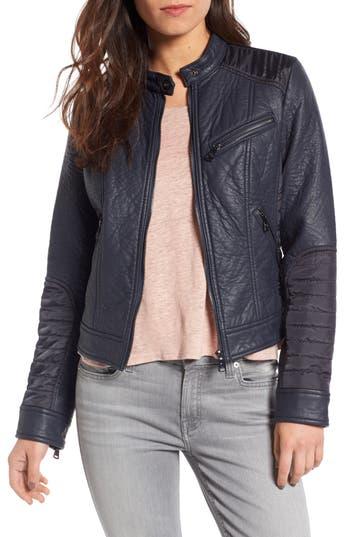 Bernardo Mixed Media Faux Leather Jacket