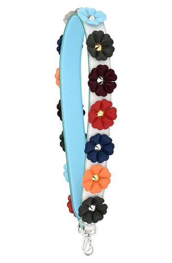 Fendi Flowerland Dégradè Leather Guitar Strap