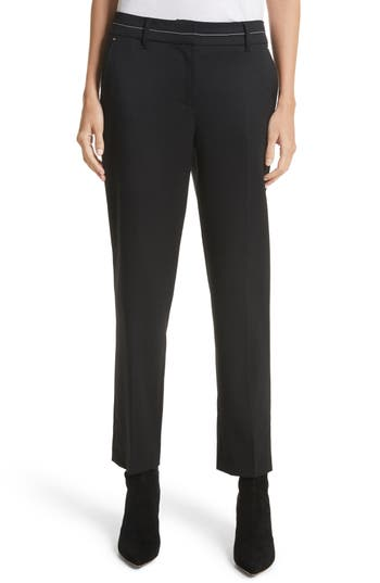 GREY Jason Wu Topstitched Stretch Wool Cigarette Pants