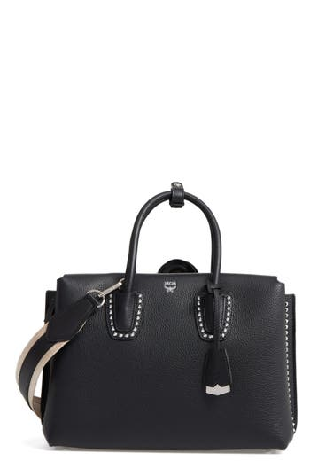 MCM Medium Milla Studded Leath..