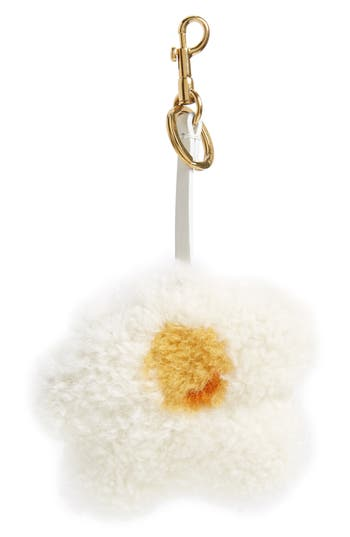 Anya Hindmarch Egg Genuine Shearling Bag Charm