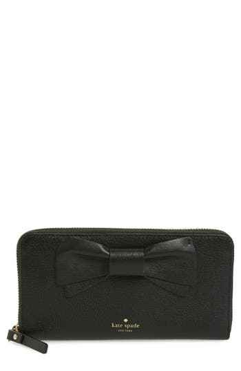 kate spade new york olive drive - lacey bow leather wallet