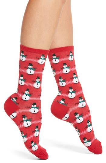Hot Sox Snowmen Crew Socks..