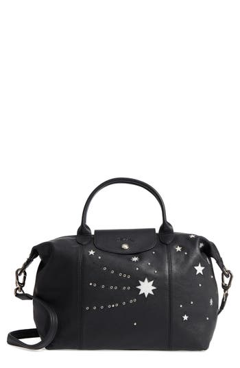Longchamp Le Pliage Cuir Etoile Leather Handbag