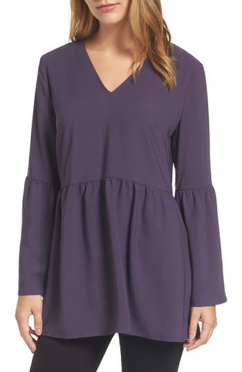 Halogen® Tie Back Tunic Top (Regular & Petite)