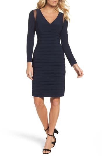 Adrianna Papell Banded Sheath Dress