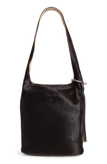 Elizabeth and James Finley Genuine Calf Hair Courier Hobo