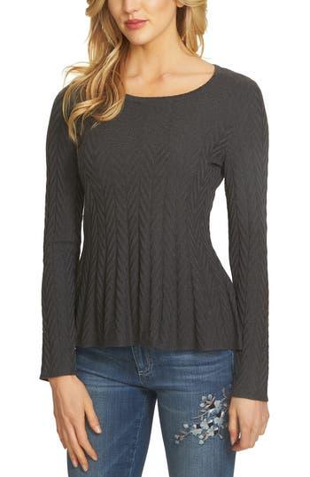 CeCe Chevron Stitch Sweater
