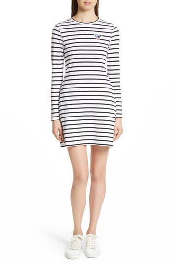 être cécile Scribble Dog Stripe T-Shirt Dress