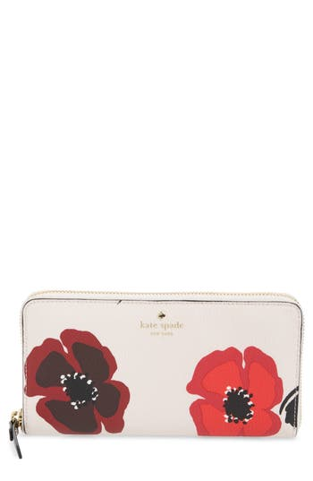 kate spade new york hyde lane poppy michele leather wallet