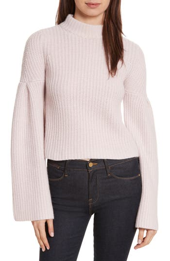 autumn cashmere Trumpet Sleeve Crop Sweater