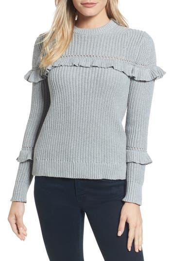 MICHAEL Michael Kors Ribbed Ruffle Sweater