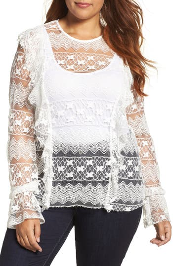 ELVI Lace Top (Plus Size)
