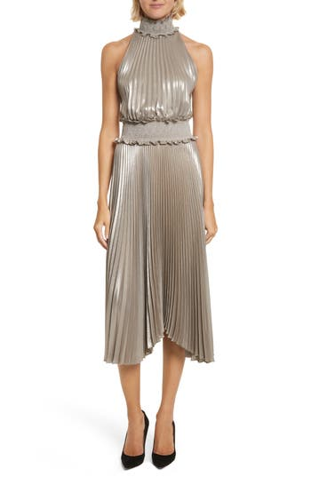A.L.C. Kravitz Pleated Midi Dr..