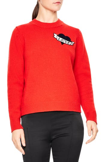 sandro Jenny Embroidered Wool Sweater