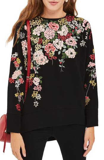 Topshop Kimono Embroidered..