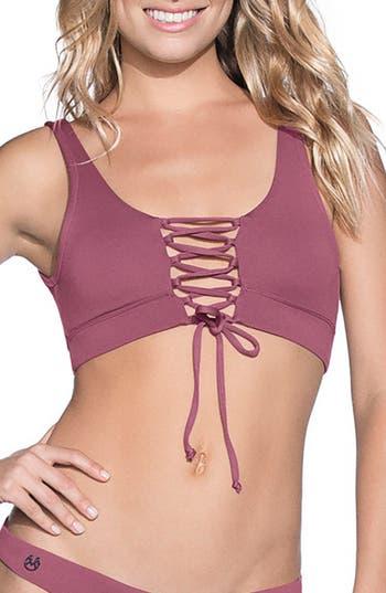 Maaji Juneberry Allure Reversible Lace-Up Bikini Top