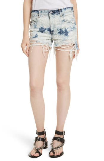 T by Alexander Wang Shadow Ripped Denim Shorts