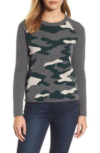 Velvet by Graham & Spencer Camo Cashmere Sweater
