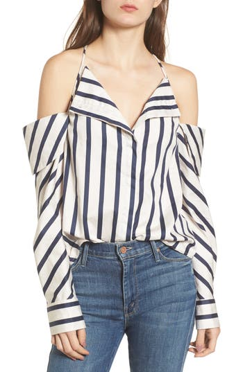 StyleKeepers The Can't Be Tamed Cold Shoulder Top