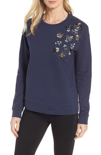 Halogen® Embellished Sweatshirt