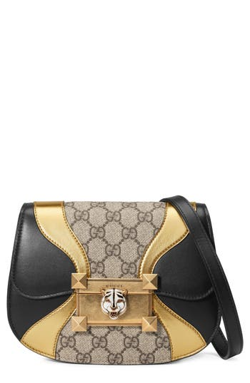 Gucci Mini Osiride GG Supreme & Leather Shoulder Bag