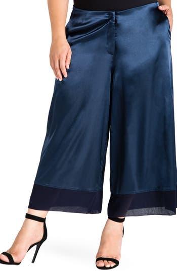 Standards & Practices Morgan Crop Sateen Pants (Plus Size)