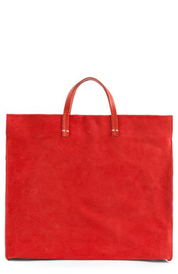 Clare V. Maison Simple Suede Tote