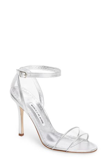 Manolo Blahnik Dandolo See-Through Strappy Sandal (Women)