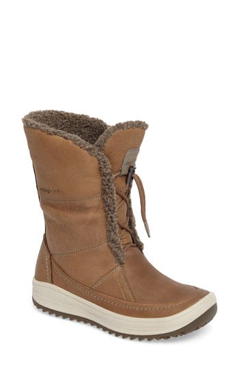 ECCO Trace Hydromax Waterproof Faux Fur Lined Boot (Women)