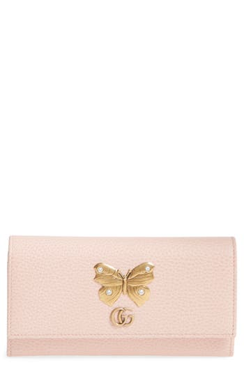 Gucci Farfalla Leather Continental Wallet