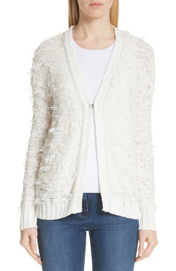 Tufted Knit Cardigan by St. John Collection