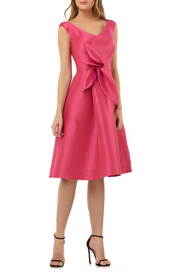 Sleeveless Stretch Mikado Fit & Flare Dress by Kay Unger