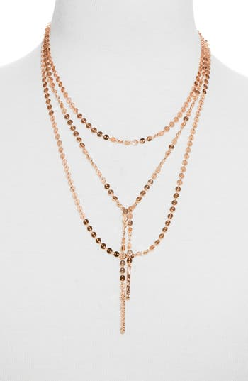 Amber Layered Chain Y Necklace by Baublebar