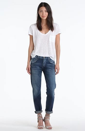 'Dylan' High Rise Loose Fit Jeans, video thumbnail