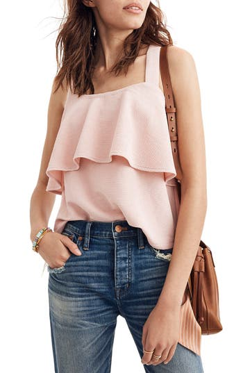 Texture & Thread Tiered Tank by Madewell