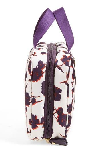 Hanging Nylon Cosmetics Case,                             Alternate thumbnail 3, color,                             Purple Iris