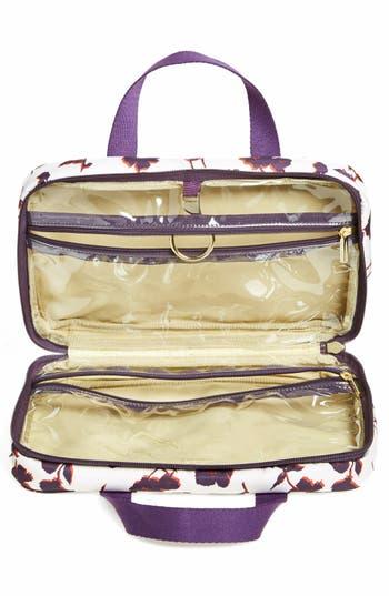 Hanging Nylon Cosmetics Case,                             Alternate thumbnail 2, color,                             Purple Iris