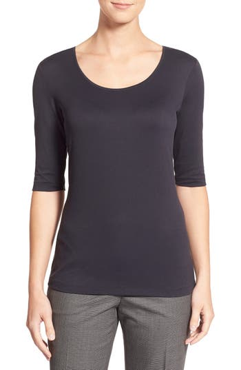 BOSS Scoop Neck Stretch Jersey Top