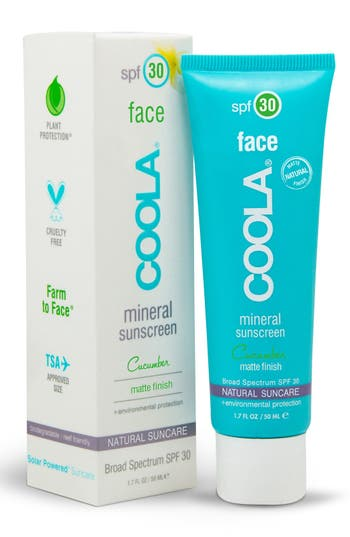 COOLA<sup>®</sup> Suncare Cucumber Face Mineral Sunscreen SPF 30,                         Main,                         color, No Color