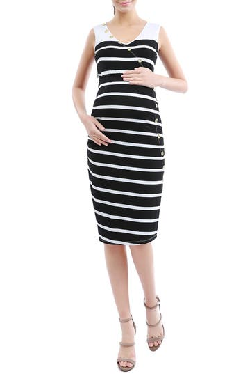Kimi and Kai 'Shea' Stripe Maternity Dress