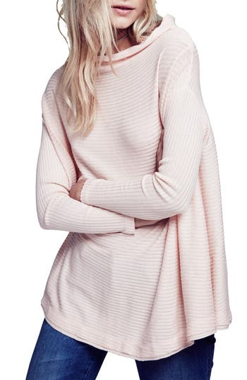 Free People Lover Rib Split Back Pullover