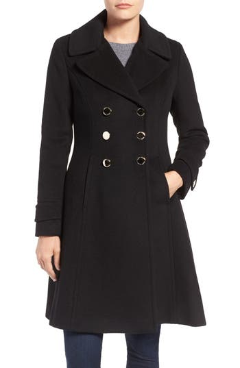 Ivanka Trump Double Breasted Fit Amp Flare Coat Nordstrom