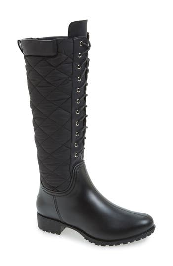 däv 'Tofino' Quilted Tall Waterproof Rain Boot (Women)