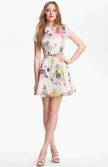 Ted Baker London Print Fit Amp Flare Dress Nordstrom